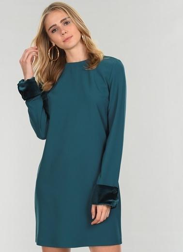 People By Fabrika Uzun Kollu Elbise Yeşil